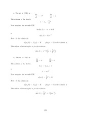 Differential Equations Lecture Work Solutions 252