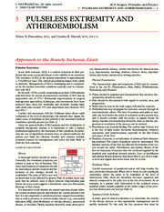 05 Pulsless extremity and artheroembolism