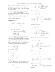 1-D motion-solutions
