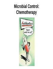 Lecture 10 - Microbial Chemotherapy- 3-14 tues