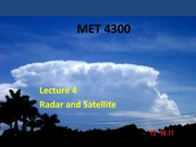 Lecture 4 on Radar and Satellite