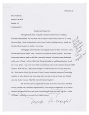 Short Paper Final Draft Example (Annotated and Graded)
