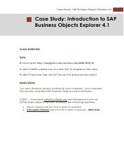 Case Exercise #2 for SAP_Business Object Explorer.pdf