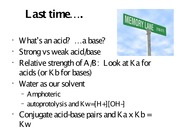 Acids bases  PART 2 - revised for posting