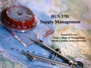Supply Management - Lecture