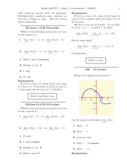 Limits -solutions-2