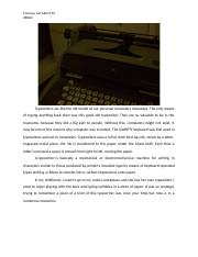 Typewriters are like the old model of our personal computers nowadays.docx