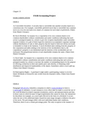 Accounting FASB Project