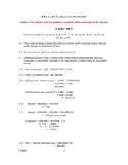 Selected Solutions - 1