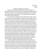 AP World History Essay Continuity and Change Over Time.docx