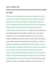Libro and Capitulo Notes