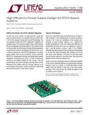High Effi ciency Power Supply Design for FPGA-Based