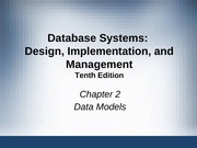 Database Management Systems Chapter 2 Data Models