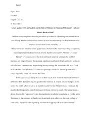 Essay #2: Southern Gothic Literature