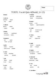Base TOEFL Test 4 # (Book2_ 6~13)