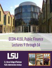 Public Finance Lectures, November 17 and Dec 1