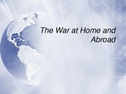 War at Home and Abroad