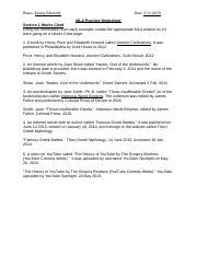 MLA In Text Citations Worksheet   MLA In text Citations ...