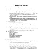 2. Prelab Material Safety Data Sheet
