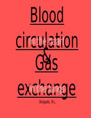 Blood circulation in the heart and gas exchange.pptx