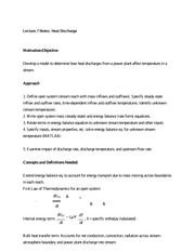 Lecture 7 Notes Heat Discharge
