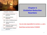 Chapter 6 Oxidation Reduction Reactions