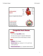 Lecture V Congenital Heart Diseases [Compatibility Mode]