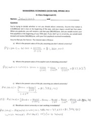 Assignment(InClass) #1_Solutions