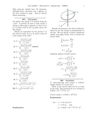Electric Flux and Gauss' Law HW solutions