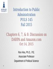 Introduction to Public Administration Lecture DARPA and Amazon Discussion.pptx