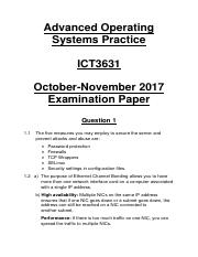 ICT3631 October-November 2017 Examination (Self-Made Memorandum).pdf