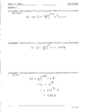 Math 111 Test 3 2009 Solutions