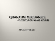 Nano Science (Lec5 Quantum mechanics)