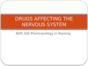 Lecture- Drugs Affecting the Nervous System