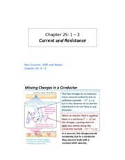 Lecture 10 - Current and Resistance