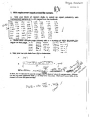 Replacement Probability Homework Solutions