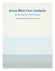 jones blair case study analysis