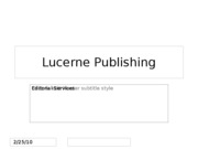 Lucerne Editorial Services