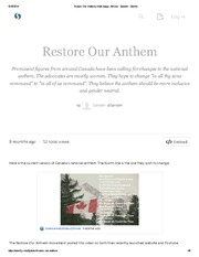 Restore our Anthem - Storify Assignment