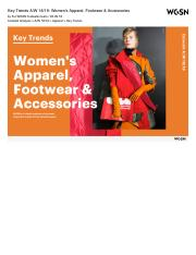 Key Trends A:W 18:19: Women's Apparel, Footwear & Accessories.pdf