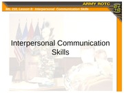Lesson 08 - Interpersonal Communication Skills