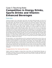 Competition in Energy Drinks, Sports Drinks and Vitamin-Enhanced Beverages
