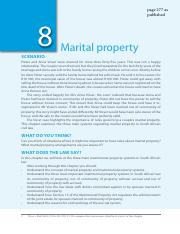 Barratt 277-316. Marital property