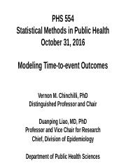 PHS 554 (2016_10_31 - Modeling Time-to-event Outcomes)
