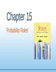 Chapter15 - Probability Rules.ppt