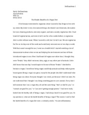 Unit two essay