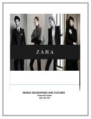 Globalization Impact on Zara (Assignment)