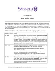 SOC1021E-Essay+Grading+Rubric+and+Checklist
