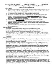 STUDY GUIDE for Exam 2  in Spring 2018.doc