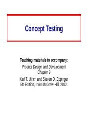 9 Concept_Testing.ppt